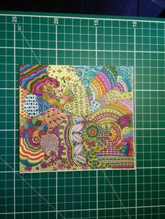 Base x preparazione resina (disegno, colore, laccatura) - fase1 #zentangle #colors #tangle #doodling #myart