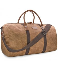 a731721e5 Travel Duffel Bag Waterproof Canvas Overnight Bag Leather Weekend Carryon  Bag - Brown - CS18808U4LH #