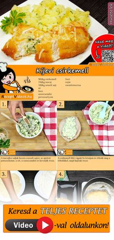 Kijevi csirkemell Food N, Good Food, Food And Drink, Yummy Food, Clean Eating, Healthy Eating, Hungarian Recipes, Breakfast Time, Winter Food