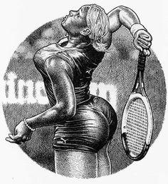 Tennis girl by Robert Crumb- 2006