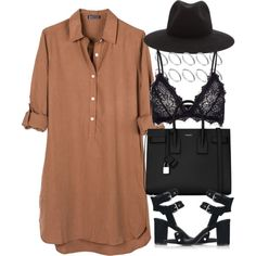 Untitled #4203 by maddie1128 on Polyvore featuring United by Blue, Anine Bing, Topshop, Yves Saint Laurent, ASOS and rag & bone
