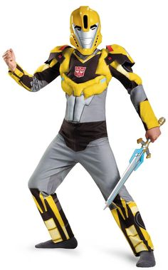 Transformers Robots in Disguise: Kids Bumblebee Animated Muscle Costume from Buycostumes.com