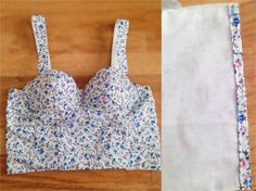Handmade with Paige: DIY Caged Bustier Top Using a Bra- Inspired by Triangl Handgemacht mit Pa Sewing Bras, Sewing Blouses, Sewing Lingerie, Bralette Pattern, Bra Pattern, Bustier Top, Bustiers, Corset Sewing Pattern, Diy Bralette