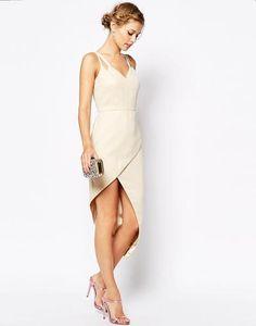 VLabel London Lyle Wrap Front Midi Dress With Cami Straps at asos.com #wrapdress #women #covetme