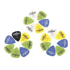 Alice AP-F 20pcs 0.71mm Frosted Matte Nylon Guitar Picks Plectrums