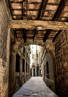 Ribera neighborhood. Gothic Barcelona.
