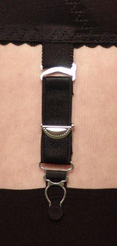 43c74b620 Berdita Adjustable Hook Garters   Suspenders ( 4 Pack )  Sus LAH  BLACK.