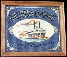 Southern Comfort Large Vintage Riverboat Bar Mirror