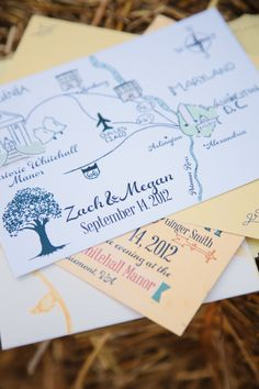 A classic map of the Washington metropolitan area on invitations #weddings #youreinvited #guestlist
