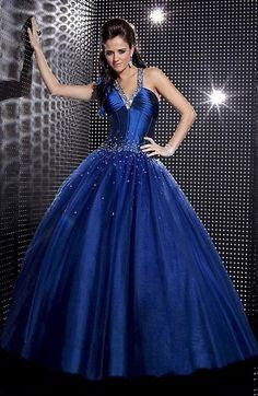 Classic Sleeveless Floor Length Tulle V-neck Ball Gown Evening Dress -US$204.89 - ninedresses.com
