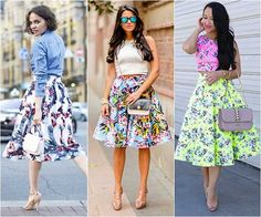 Saias na moda verão 1