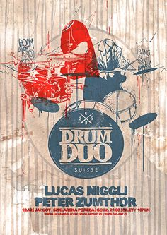 Drum Duo | Niggli- Zumthor gig poster