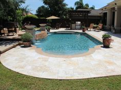 Roman Pool Roman Shapes And Backyard
