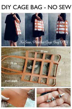diy bag diy no sew faux leather cage bag by saltym - Diy Handbag, Diy Purse, Leather Purses, Leather Handbags, Leather Bags, Leather Totes, Leather Backpacks, Diy Bags No Sew, Leather Bag Tutorial