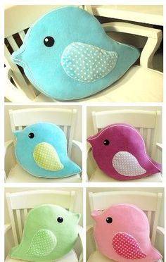 Items similar to Oversized Soft Plush Bird Parade Pet Pillow - Huggable Handmade Pillow for Baby Nursery decor, children playroom decor, unique birthday gift on Etsy Cute Pillows, Baby Pillows, Throw Pillows, Handmade Pillows, Decorative Pillows, Fleece Tie Blankets, Bird Theme, Unique Birthday Gifts, Sewing Pillows