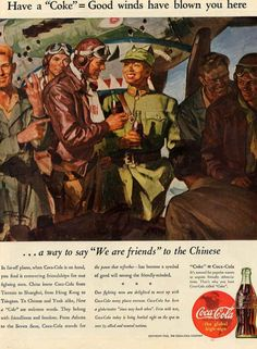 coca cola ad american soldiers in china 1943