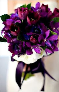 Floral and Landscaping: Luscious wedding bouquet Purple Wedding Flowers, Wedding Colors, Wedding Bouquets, Purple Bouquets, Orchid Bouquet, Plum Flowers, Bouquet Flowers, Fall Wedding, Our Wedding