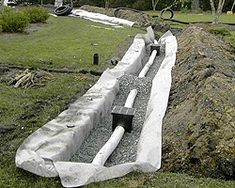 Use this for the photo only. Water drainage is a major issue for many homeowners. Poor drainage can cause all sorts of problems, including basement flooding, icy sidewalks, as well as excess seepage that can damage the foundation of your home. Backyard Drainage, Landscape Drainage, Backyard Landscaping, Landscaping Ideas, Backyard Projects, Outdoor Projects, Drainage Solutions, Drainage Ideas, Retaining Walls