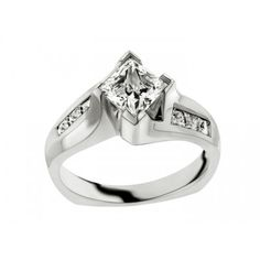 Style Number: L6995-E     Description: Engagement Ring Semi Wt .42CT. 1.00CT princess cut center. Also available in 1/2CT center stone (L6702-E) 14K white or yellow gold.