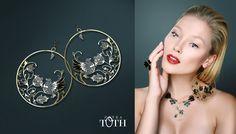 Beautiful Slovakian folk earrings by Petra Toth Jewellery. Petra, Folk, Jewelry Accessories, Hoop Earrings, Jewellery, Clothing, How To Make, Beauty, Inspiration