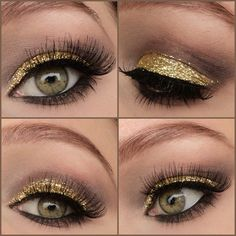 Golden glitter eyes