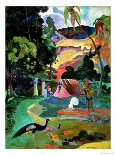 Matamoe Or, Landscape with Peacocks, 1892 Giclée-Druck von Paul Gauguin - bei AllPosters.ch