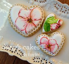 Handpainted Hearts     https://www.facebook.com/pages/Danys-Cakes/108399109182699