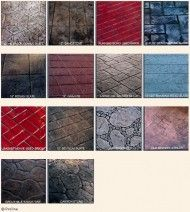 Stamping Textures and Examples Gallery Stamped Concrete, Concrete Stamping, Ramp Design, Barn Wood, Overlays, Custom Design, Texture, Gallery, Ideas