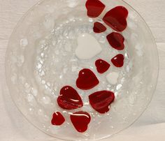 Fused Glass Round Bistro Bowl  288 by MAIStuffStudio on Etsy, $75.00