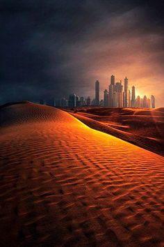 The Desert and The City of Dubai _ A sivatag és Dubai városa_photo by Mike Andrews on 500px