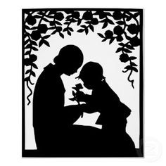 In Victorian times, Mothering Sunday was a day when children, mainly daughters, who had gone to work as domestic servants were given a day off to visit their mother and family. Kirigami, Silhouette Clip Art, Vintage Silhouette, Free Silhouette, Silhouette Images, Silhouette Family, Silhouette Painting, Black Silhouette, Mothers Love