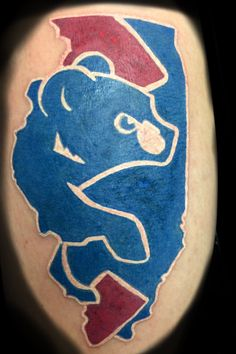 Cubs tattoo done prior to the Cubs World Series