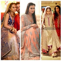 Everyone on Pinterest  has seen her baraat pics. Yesterday i found her full wedding album on some website. I dont think anyone wore better dresses then her on their wedding. She wore Mina Hasan on her Baraat and Umer Saeed on her walima. God bless them. Pinned by Zartashia.