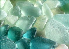 Hawaiian teal and aqua beach gems