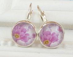 Sommer Ohrringe in rosa silber mit Blüten Blumen von Schmucktruhe