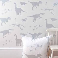 TO DECORATE (D'ya-think-e-saurus boys dinosaur wallpaper / paper boy wallpapers)