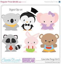 BLACK FRIDAY 50% OFF Cute Little Things vol 3 Digital Clip Art  - Commercial and Personal Use Clipart - Instant Download