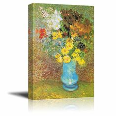 Wall26 - Flowers in a Blue Vase, 1887 by Vincent Van Gogh... https://www.amazon.com/dp/B00XU7T7GS/ref=cm_sw_r_pi_dp_x_X3WByb2X93D8N