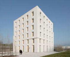 Bürogebäude von Baumschlager Eberle in Lauterach, Fassade
