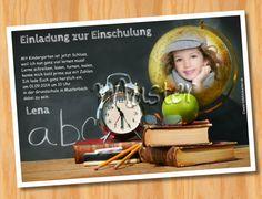 Einladung Einschulung Schulanfang MUSTER 22  - Bild vergrößern