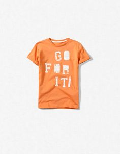 """GO FOR IT"" T-SHIRT - T-shirts - Boy (2-14 years) - Kids - ZARA United States"