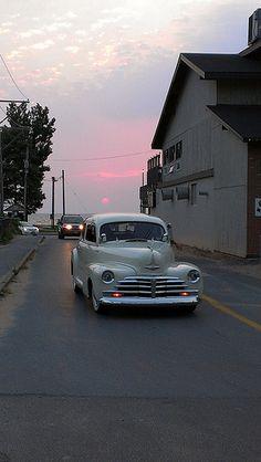 Hot Rod sunset