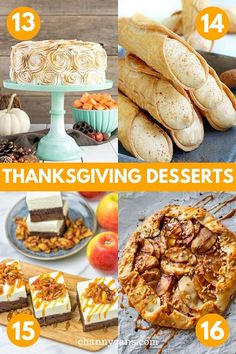 Yes, Thanksgiving is all about the pies – but why not try some of these Thanksgiving desserts that are most definitely not a pie? There is no shortage of delicious Thanksgiving dessert ideas – from cookies to cupcakes. Thanksgiving Side Dishes, Thanksgiving Desserts, Holiday Desserts, Fall Baking, Holiday Baking, Fall Recipes, Holiday Recipes, Dessert Ideas, Dessert Recipes