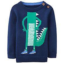 Buy Baby Joule Chrissie Crocodile Intarsia Jumper, Navy Online at johnlewis.com