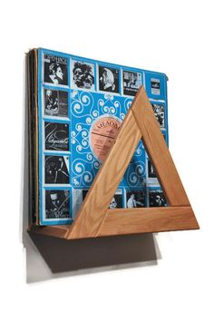 Vinyl record stand Record holder Record storage by LumiWood