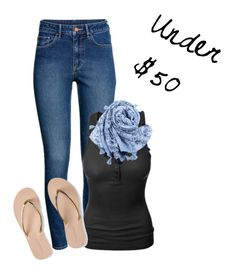 """Under $50: Casual"" by bridgescrossed on Polyvore featuring H&M, LE3NO and Aéropostale"