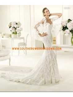 Fabulous Couture Strapless Mermaid Lace Wedding Gowns 2013 O...