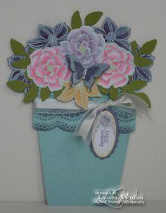 LW Designs: Secret Garden Flower Pot Pocket Card