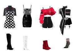 Korean Outfits Kpop, Kpop Fashion Outfits, Girls Fashion Clothes, Stage Outfits, Girly Outfits, Dance Outfits, Stylish Outfits, Korean Street Fashion, Korea Fashion