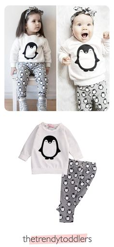 Free Worldwide Shipping! SHOP Our Baby Girl Penguin Set